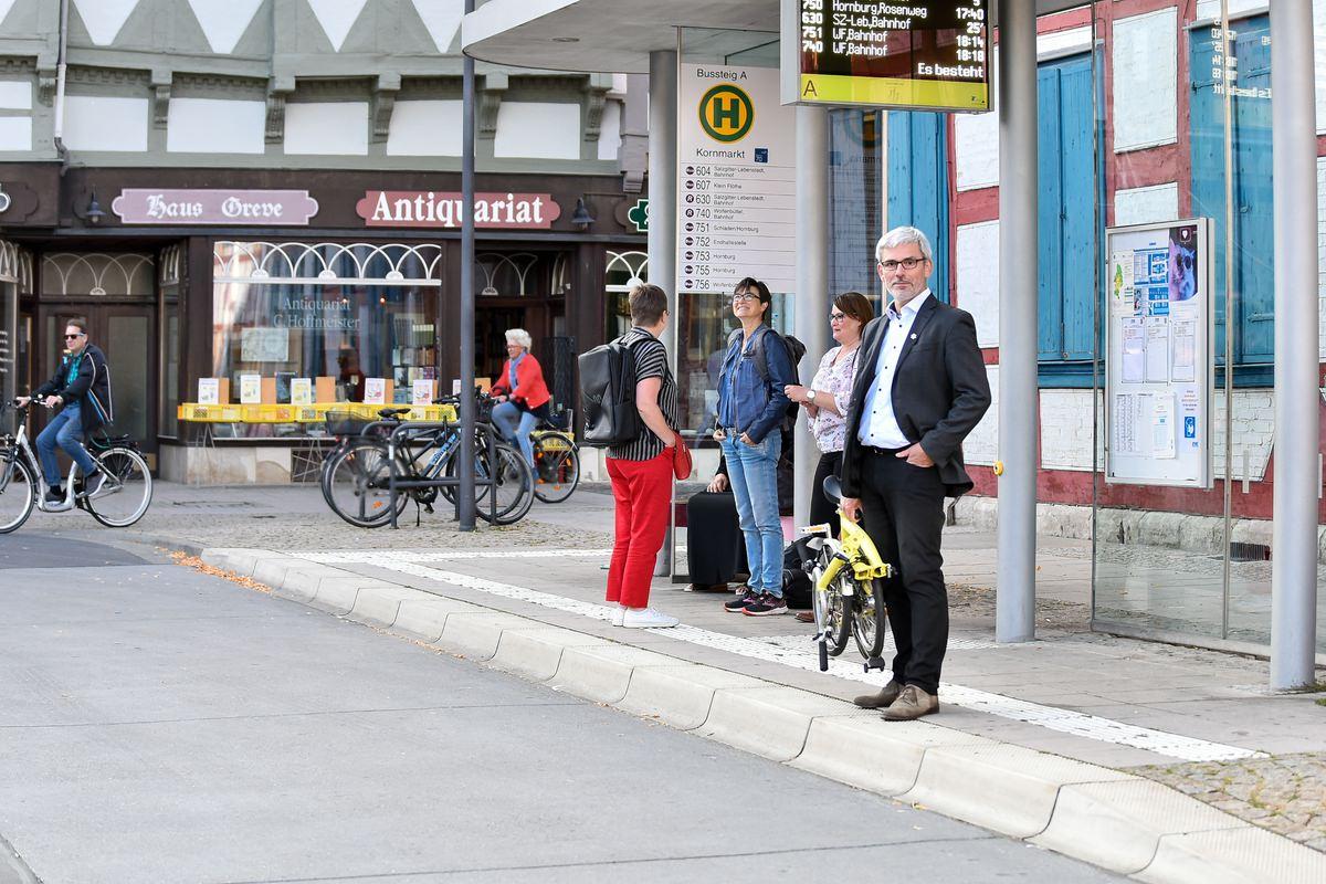 Stefan Brix Kornmarkt Wolfenbüttel zur Verkehrswende - ÖPNV